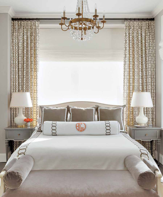 Sheer Blinds Bedroom Traditional with Bedding Bedroom Bench Bolster