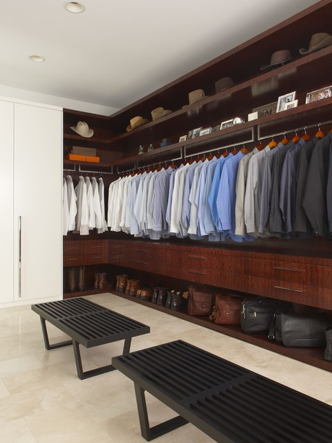 Shoe Closet Organizer Closet Contemporary with Dark Stained Wood Hats