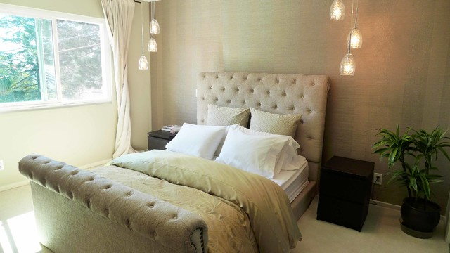 Short Queen Mattress Bedroom Contemporary with a Room with A