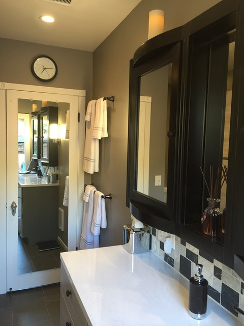 Slate Tile Lowes Bathroom Contemporary with Bathroom Remodel Black And