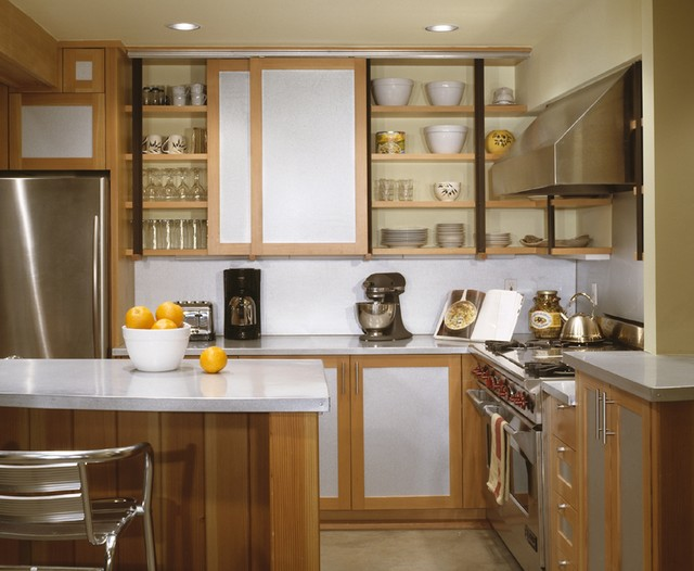 Slide in Induction Range Kitchen Rustic with Breakfast Bar Ceiling Lighting