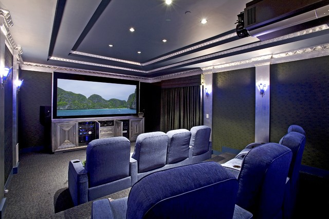 Sonos Home Theater Home Theater Eclectic with Armchairs Art Deco Home