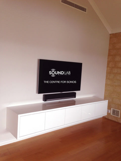 Sonos Home Theater Home Theater Modern with Cabinetry Home Theatre Living