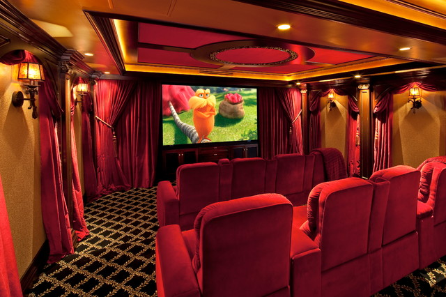 Sonos Home Theater Home Theater Traditional with Big Screen Built By