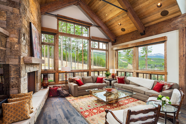Southwestern Area Rugs Living Room Rustic with Barn Wood Brown Fabric
