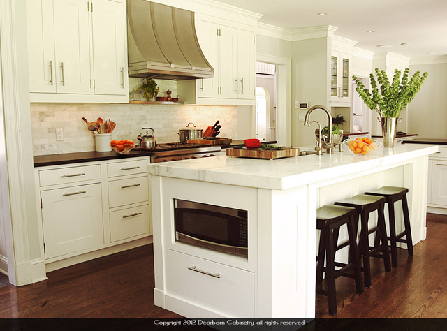 Spacemaker Microwave Spaces Traditional with Absolute Black Cabinetry Carerra