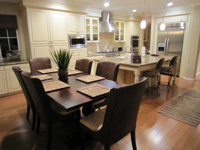 Square Placemats Kitchen Traditional With Breakfast Bar Ceiling Lighting