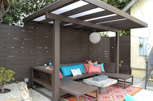 Staining Wood Floors Porch Modern with Barbecue Brentwood Brown Contemporary