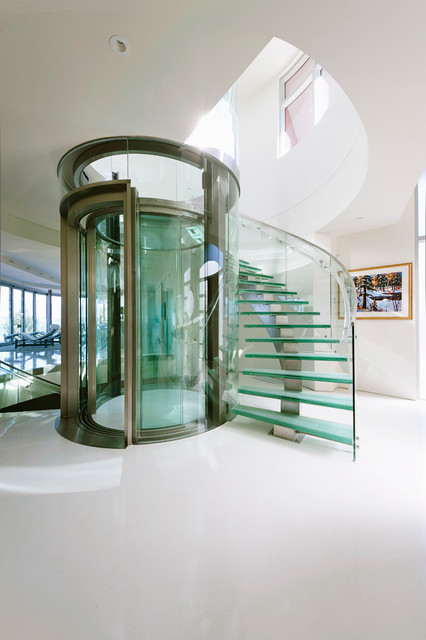 stair lift reviews Staircase Contemporary with circular glass elevator circular