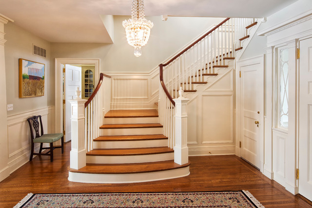 Stair Lift Reviews Staircase Traditional with Beige Column Beige Front