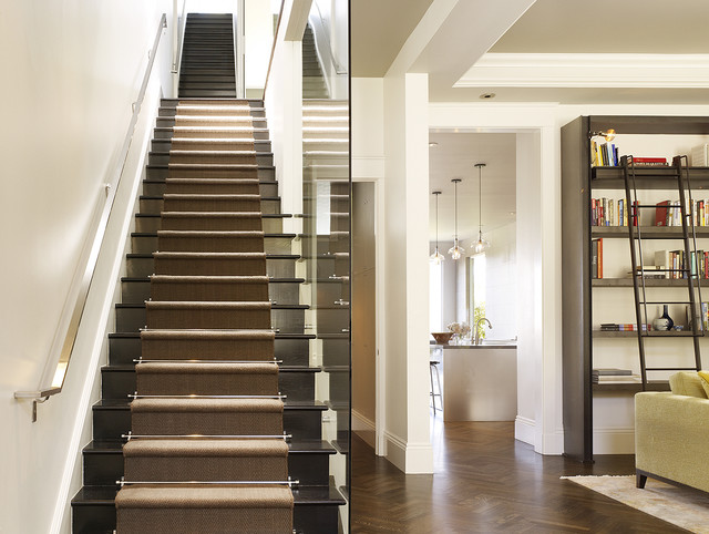 Stair Tread Covers Staircase Transitional with Black Stairs Bookcase With
