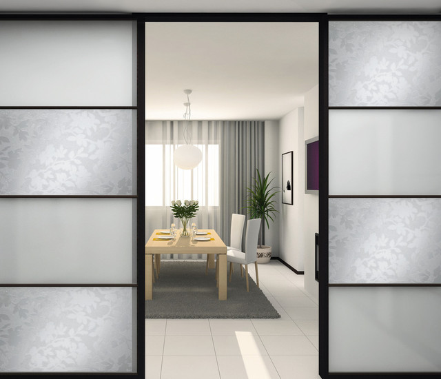Static Cling Window Film Dining Room Modern with Decoration Leaf Design Office