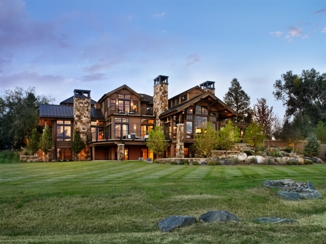 Steel Trusses Exterior Rustic with Colorado Eclectic Exterior Landscape
