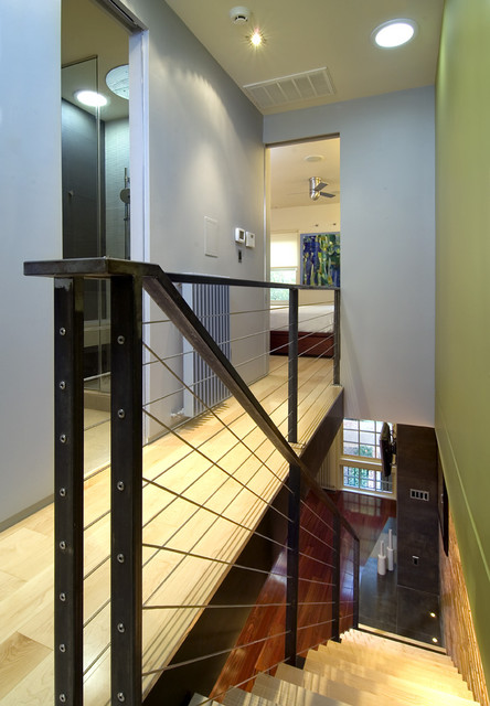 Steelcase Think Spaces Contemporary with Ash Wood Cable Railing
