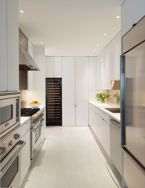 Stepstool Kitchen Contemporary with Full Height Cabinets Recessed