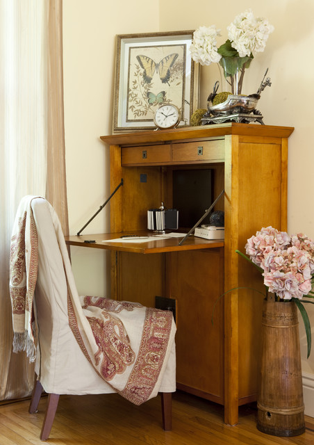 Student Desk with Hutch Home Office Eclectic with Abattant Art Chair Curtain