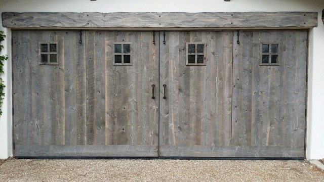 Sugarboo Designs Garage and Shed Rustic with Carriage Doors Carriage Garage