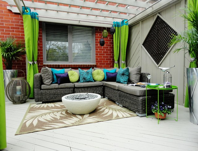 sunbrella outdoor pillows Patio Contemporary with backyard beige patterned outdoor
