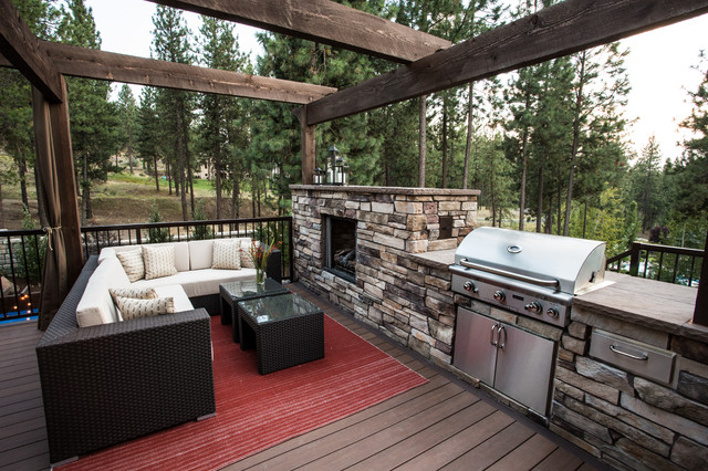 Tabletop Charcoal Grill Deck Transitional with Bbq Beige Cushions Beige