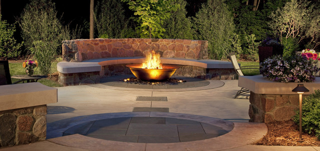 Tabletop Fire Pit Patio Craftsman with Curb Appeal Garden Ideas