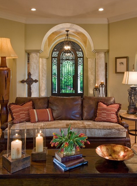 Taper Candle Holders Living Room Mediterranean with Archway Candles Ceiling Lighting
