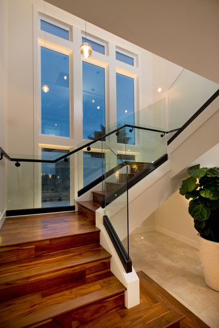 Target Carpets Staircase Contemporary with Black Banister Black Railing