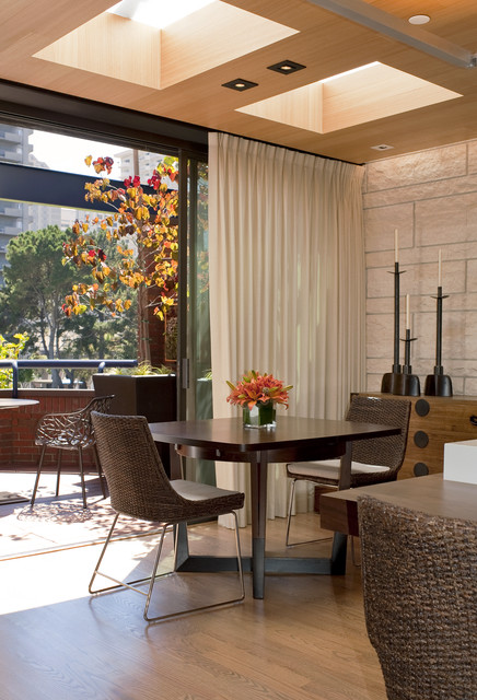 Thermal Blackout Curtains Dining Room Contemporary with Art Brown Wicker Chairs