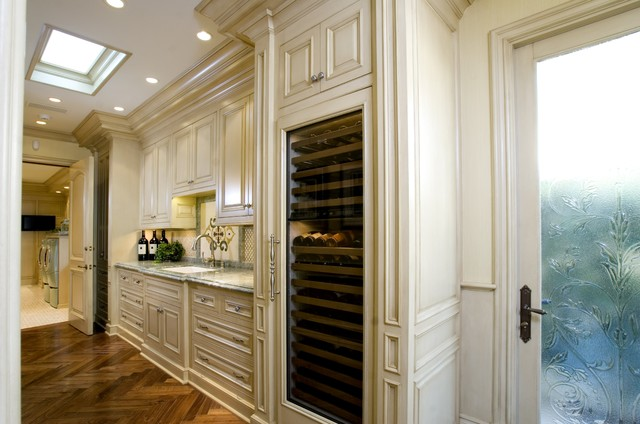 Thermoelectric Wine Cooler Kitchen Traditional with Beverage Cooler Custom Woodwork