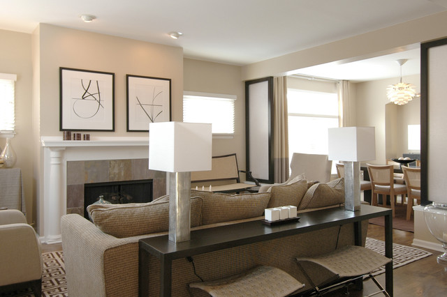 Tiffany Style Table Lamps Family Room Contemporary with Artwork Baseboards Ceiling Lighting