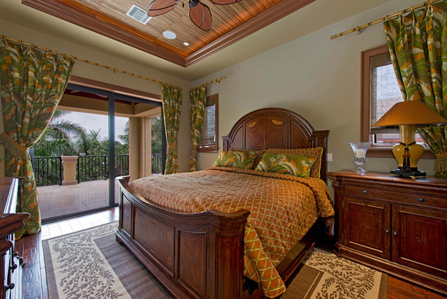 tommy-bahama-fabric-Bedroom-Tropical-with-bamboo-bamboo-ceiling ...