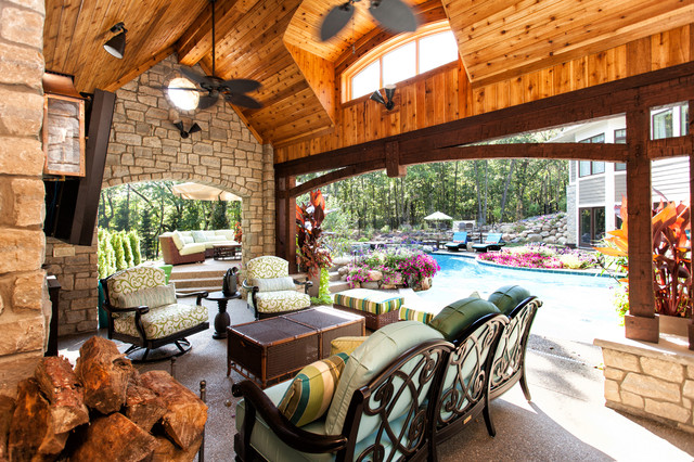 Tommy Bahama Outdoor Furniture Patio Traditional with Aquatic Archway Cedar Ceiling