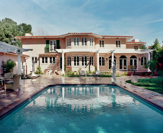 Tommy Bahama Rugs Pool Mediterranean with Arched Doorways Arched Windows