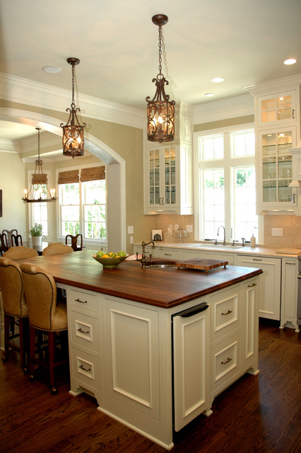 Touchless Trash Can Kitchen Traditional with Arched Doorway Barstool Chandelier