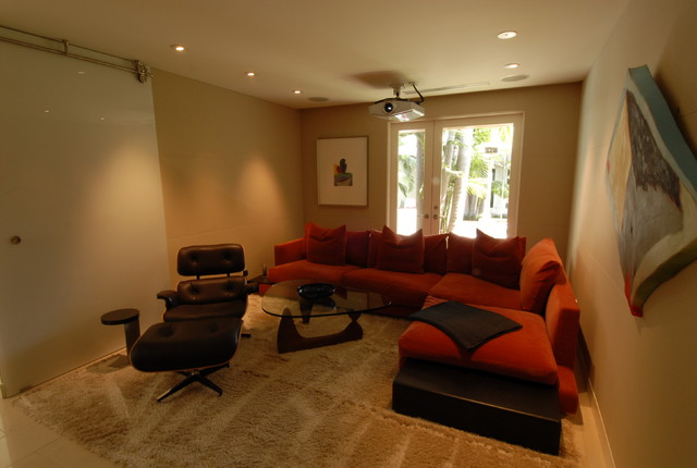 Traverse Rods Home Theater Modern with Categoryhome Theaterstylemodernlocationlos Angeles