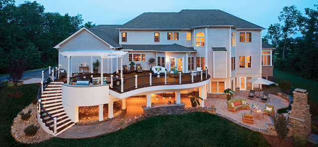 Trex Outdoor Furniture Deck Traditional with Composite Curved Decking Curved