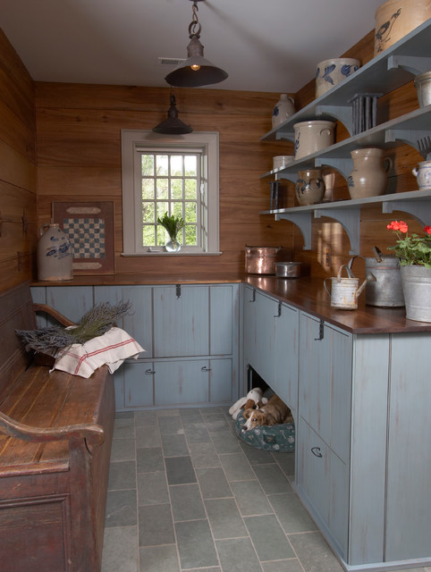 Trixie Pet Products Entry Traditional with Blue Shelves Crockery Dog