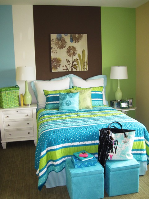 Twin Duvet Cover Kids Contemporary with Accent Wall Bedroom Bedside