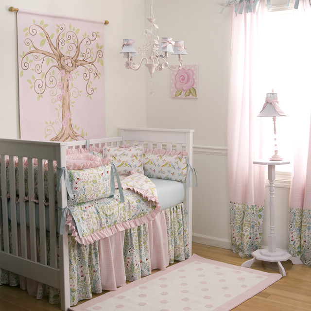Twin Duvet Cover Kids Traditional with Birds Chandelier Crib Crib