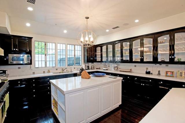 Uline Refrigerator Kitchen Traditional with Cabinets Coffered Ceiling Kitchen