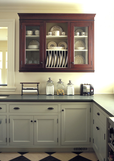 Unfinished Base Cabinets Kitchen Traditional with Apothecary Jars Black And