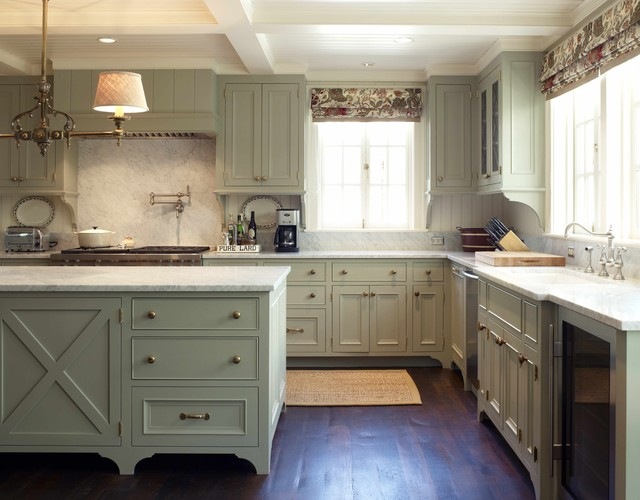 Unfinished Base Cabinets Kitchen Traditional with Ceiling Lighting Chandelier Coffered