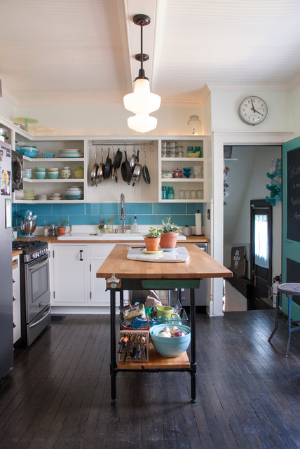 Used Furniture Columbus Ohio Kitchen Eclectic with Blue Backsplash Bungalow Eclectic