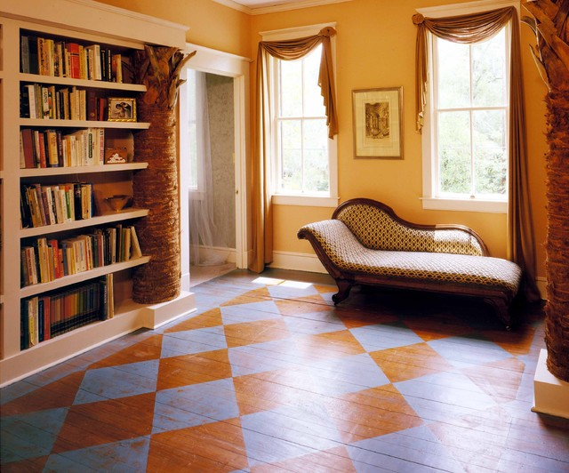 Vacuums for Hardwood Floors Hall Eclectic with Bookcase Bookshelves Checkered Floor
