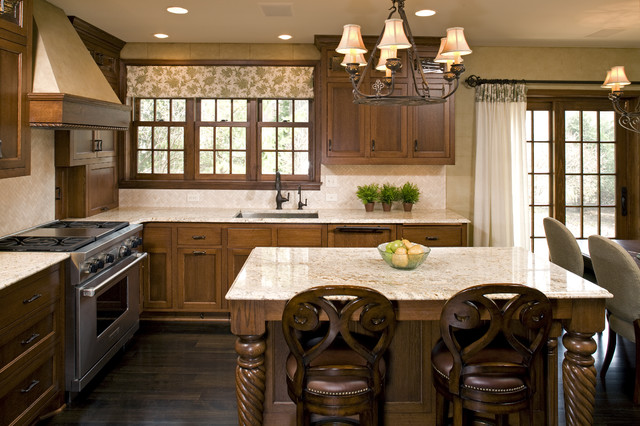 Valance Curtain Kitchen Traditional with Breakfast Bar Ceiling Lighting