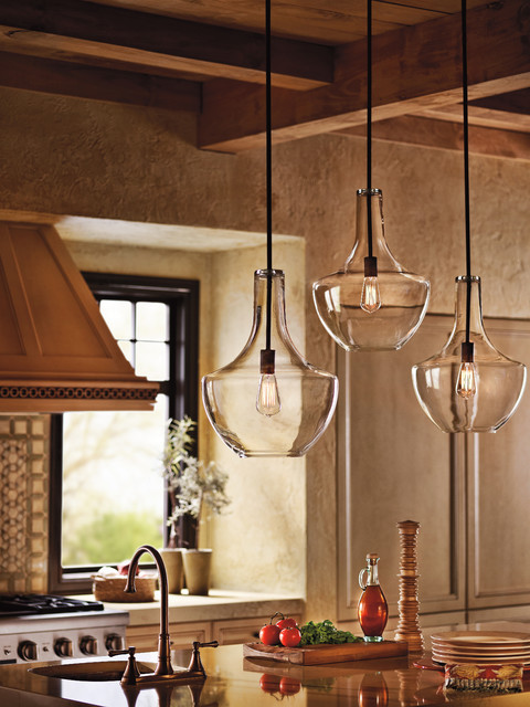 Ventless Washer Dryer Kitchen Farmhouse with 42046oz Clear Glass Pendants