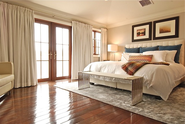 versalift Bedroom Contemporary with area rug artwork curtain