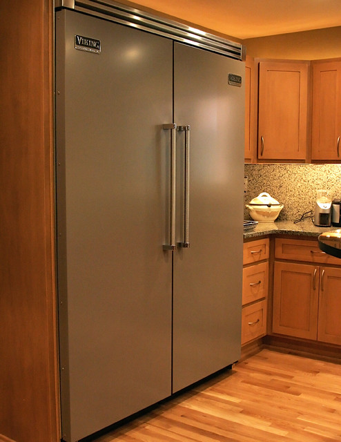 Viking Refrigerator Kitchen Contemporary with Custom Cabinets Kitchen Remodel