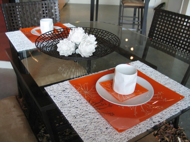 Vinyl Placemats Dining Room Industrial with Chilewich Dining Room Orange