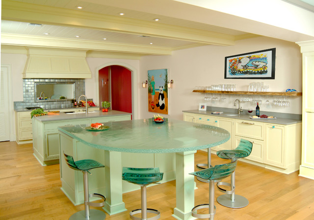 Vinyl Plank Flooring Installation Kitchen Contemporary with Glass Counter Glass Counters