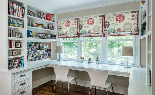 Vinyl Tablecloths Kids Traditional with Built in Cabinetry Bulletin Board